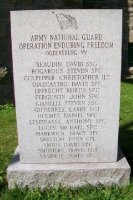Operation Enduring Freedom Monument image. Click for full size.