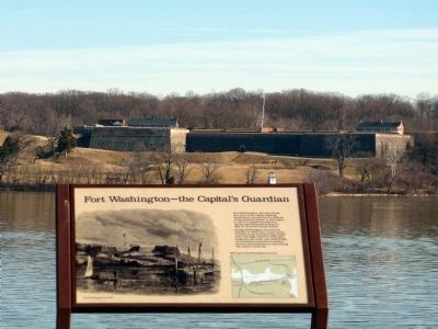 Fort Washington—The Capital's Guardian Marker image. Click for full size.