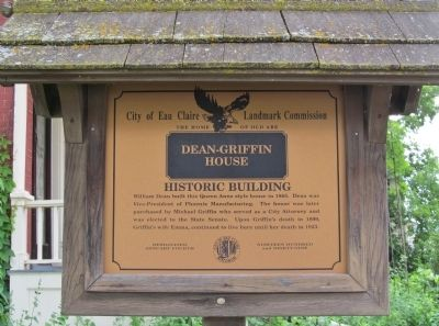 Dean-Griffin House Marker image. Click for full size.