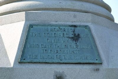 Michigan City Civil War Monument Marker image. Click for full size.