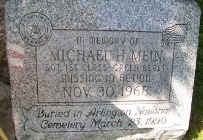 Michael H. Mein Memorial image. Click for full size.