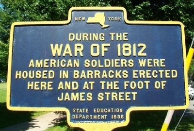 War of 1812 Barracks Marker image. Click for full size.