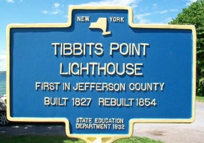 Tibbits Point Lighthouse Marker image. Click for full size.
