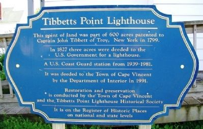 Tibbetts Point Lighthouse Marker image. Click for full size.