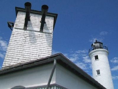 Tibbetts Point Lighthouse and Fog Horns image. Click for full size.