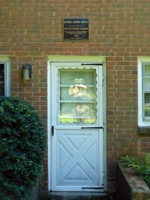 Rachel Carson House Marker image. Click for full size.
