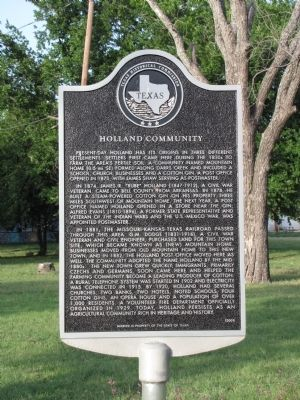 Holland Community Texas Historical Marker image. Click for full size.