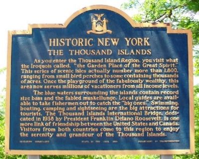 The Thousand Islands Marker image. Click for full size.