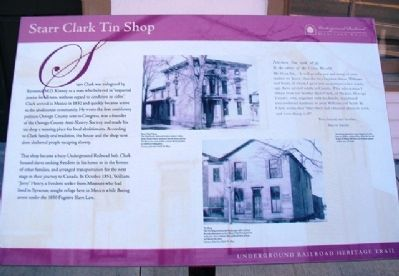 Starr Clark Tin Shop Marker image. Click for full size.