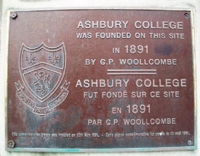 Asbury College Marker image. Click for full size.