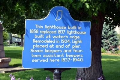 Michigan City Lighthouse Marker image. Click for full size.