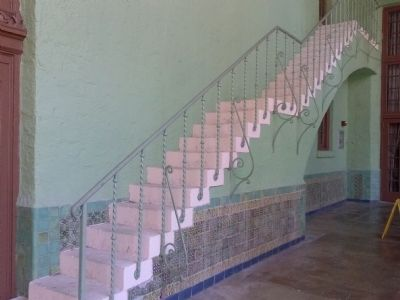 Exterior staircase with tiles image. Click for full size.