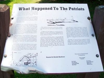 What Happened To The Patriots Marker image. Click for full size.