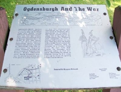 Ogdensburgh And The War Marker image. Click for full size.