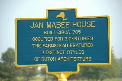 Jan Mabee House Marker image. Click for full size.