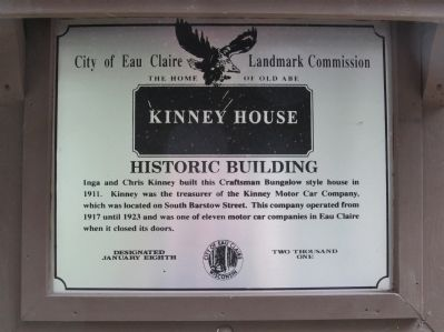 Kinney House Marker image. Click for full size.