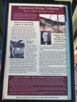 Suspension Bridge Tollhouse Marker image. Click for full size.