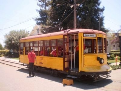 Fresno 68 Birney safety car fullly restored as SJRR 143 image. Click for full size.