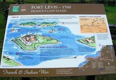 Fort Lévis - 1760 Marker image. Click for full size.