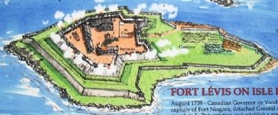Illustration on Fort Lévis - 1760 Marker image. Click for full size.