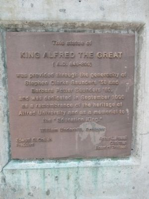 This Statue of King Alfred The Great Marker image. Click for full size.