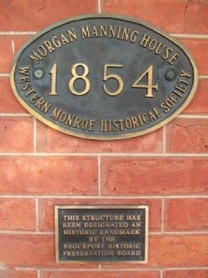 Morgan-Manning House Preservation Markers image. Click for full size.