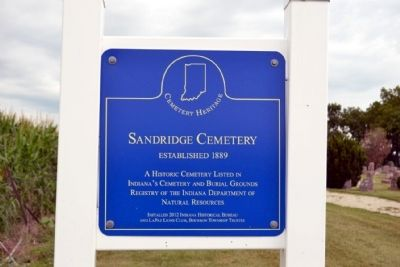 Sandridge Cemetery Marker image. Click for full size.