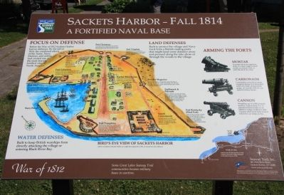 Sackets Harbor - Fall 1814 Marker image. Click for full size.