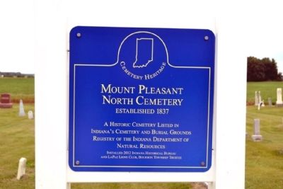 Mount Pleasant North Cemetery Marker image. Click for full size.