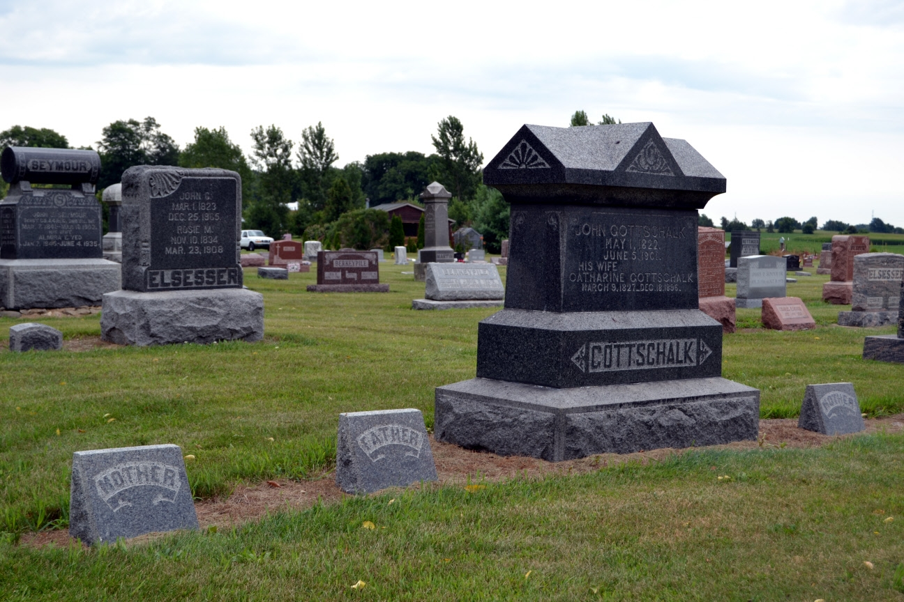 Headstones of Early Cemetery Graves