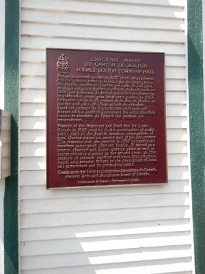Former Bolton Township Hall Marker image. Click for full size.