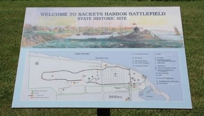 Welcome to Sackets Harbor Battlefield Marker image. Click for full size.