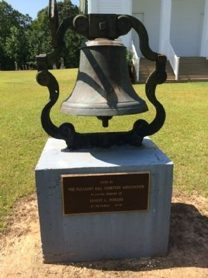 Commemorative Bell at Church image. Click for full size.