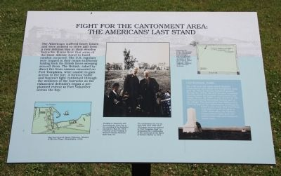 Fight for the Cantonment Area Marker image. Click for full size.