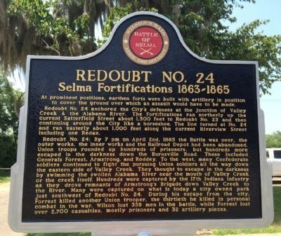 Redoubt No. 24 Marker image. Click for full size.