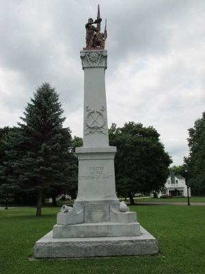 Town of Amity Civil War Monument (front) image. Click for full size.