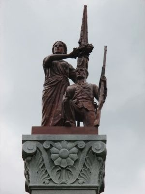Top of Town of Amity Civil War Monument image. Click for full size.