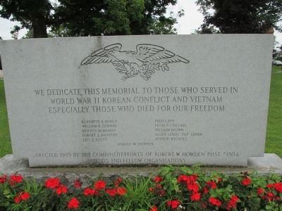 Belfast World War II, Korean Conflict, Vietnam Memorial Marker image. Click for full size.