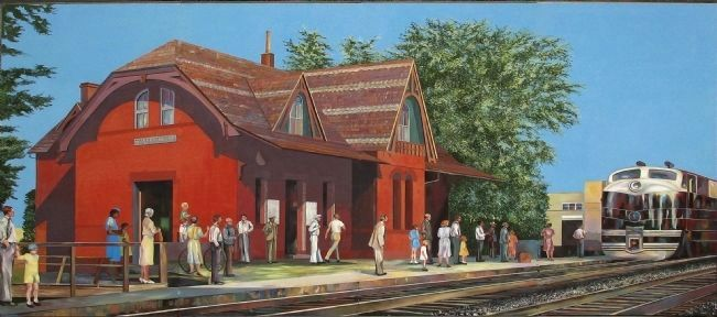 Silver Spring B & O Railroad Station image. Click for full size.