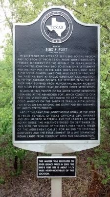 Site of Bird's Fort Marker image. Click for full size.