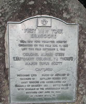 First New York Dragoons Marker image. Click for full size.