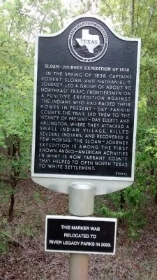 Sloan-Journey Expedition of 1838 Marker image. Click for full size.