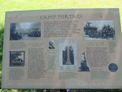Camp Portage Marker image. Click for full size.
