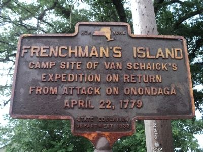 Frenchman's Island Marker image. Click for full size.