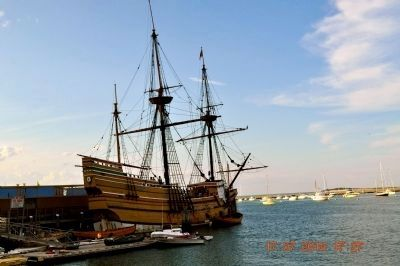 Replica of the Mayflower image. Click for full size.