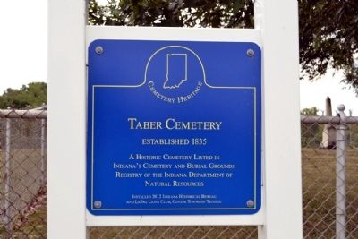 Taber Cemetery Marker image. Click for full size.