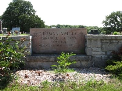 German Valley Cemetery entrance image. Click for full size.