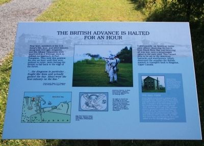 The British Advance is Halted Marker image. Click for full size.