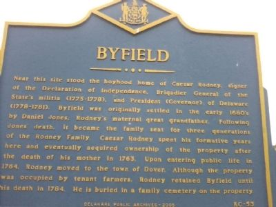 Byfield Marker image. Click for full size.