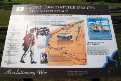 Fort Oswegatchie 1760-1796 Marker image. Click for full size.